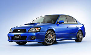 Hintergrundbilder Subaru Blau 2002 Legacy STi S401