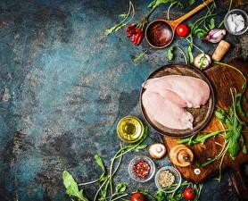 Bilder Fleischwaren Haushuhn Gewürze Pilze Lebensmittel