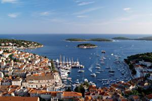 Picture Croatia Building Sea Berth Ship Hvar Cities