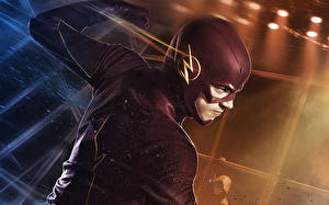 Wallpaper Men The Flash 2014 TV series The Flash hero Grant Gustin Barry Allen Movies Fantasy Celebrities
