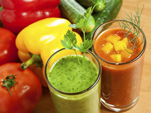 Picture Drink Juice Vegetables Bell pepper Highball glass 2 Food