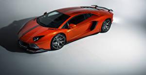 Wallpaper Lamborghini Orange lp-700-4 aventador Cars
