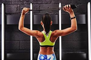 Hintergrundbilder Fitness Rücken Sport Mädchens