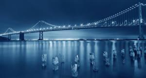 Hintergrundbilder Brücken Vereinigte Staaten Nacht San Francisco