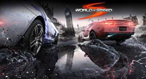 Fondos de escritorio Rueda Salpicaduras Vista Trasera world of speed Juegos Coches