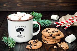 Fotos Getränke Kekse Ast Becher das Essen