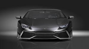Fotos Lamborghini Vorne Grau Luxus Huracan, LP 610-4, LB724 Novitec Torado Autos