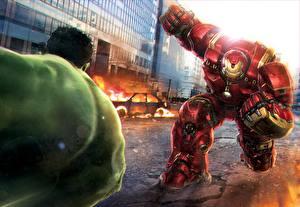 Images Hulk hero Avengers: Age of Ultron Iron Man hero Fight Fantasy