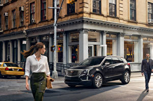 Pictures Cadillac Street XT5 Cities Cars Girls