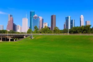 Wallpapers USA Building Bridges Texas Lawn Houston