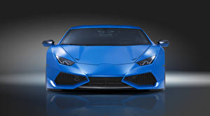 Images Lamborghini Front Luxurious Light Blue Novitec Torado Huracan automobile