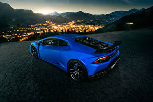 Image Lamborghini Blue Night Novitec Torado Huracan Cars
