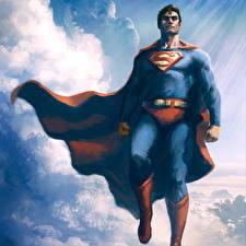 Bakgrunnsbilder Superhelter Supermann helten Menn Kappe plagg