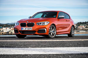 Pictures BMW Orange 2015 M135i 3-door F21 Cars