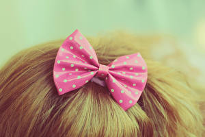 Fotos Hautnah Schleife Haar Blond Mädchen Rosa Farbe