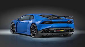 Bilder Lamborghini Luxus Hellblau Hinten Novitec Torado Huracan Autos