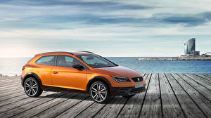 Fotos Seat Orange Seitlich 2015 Leon Cross Sport Concept Autos