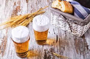 Hintergrundbilder Getränke Bier Brot Trinkglas Zwei Ähre Weidenkorb Lebensmittel
