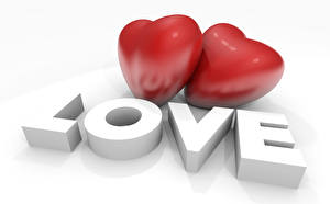 Pictures Valentine's Day Heart Two 3D Graphics