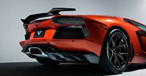 Fotos Lamborghini Luxus Orange Rad Hinten 2015 lp-700-4 aventador Autos
