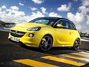 Bilder Opel Gelb 2013 Adam Slam OPC auto