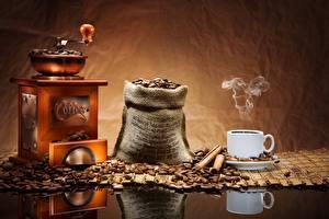 Fotos Kaffee Kaffeemühle Tasse Getreide Lebensmittel