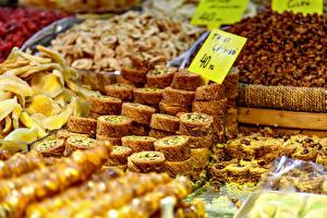 Hintergrundbilder Süßigkeiten Viel Lokum baklava