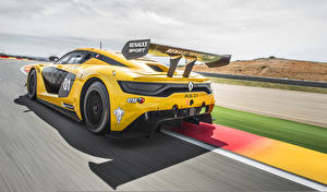 Papel de Parede Desktop Renault Amarelo De volta 2014 Sport RS 01 carro