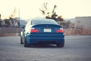 Pictures BMW Back view Blue m3 e46 automobile