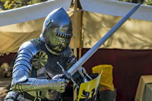 Fotos Ritter Rüstung Schwert Helm