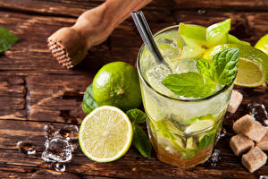 Pictures Drinks Cocktail Lime Mojito Ice Highball glass Food