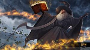 Hintergrundbilder Magie Heroes of Newerth Magier Hexer Der Hut Buch Vindi the Gray Vindicator Spiele Fantasy