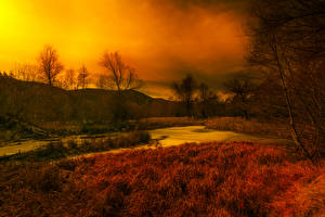Pictures France Autumn Sky Grass Swamp Thorenc