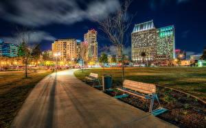 Bilder Park Gebäude Vereinigte Staaten HDR Nacht Bank (Möbel) Gehweg Kalifornien San Diego Marina Ruocco