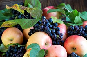 Hintergrundbilder Äpfel Weintraube Obst Blatt Lebensmittel