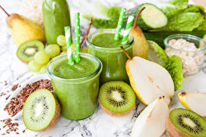 Pictures Drinks Kiwi Pears Smoothie Highball glass