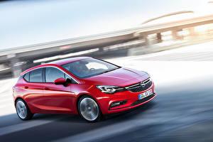 Bilder Opel Rot Fährt 2015 Astra K