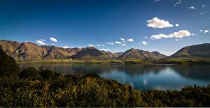 Wallpaper Sky Mountains Lake Landscape photography New Zealand Lake Wakatipu, Mount Nicholas, Otago Nature