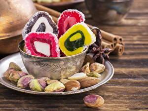 Hintergrundbilder Süßware Nussfrüchte Lokum