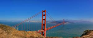 Hintergrundbilder Himmel Brücken Vereinigte Staaten San Francisco Golden Gate Bridge
