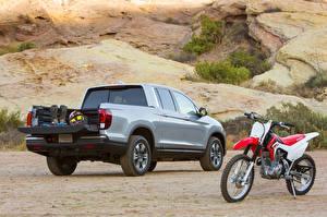 Bilder Honda Graue Hinten 2016 Ridgeline auto