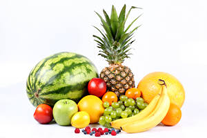 Picture Fruit Watermelons Pineapples Grapes Bananas Melons Apples Citrus Berry