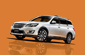Hintergrundbilder Subaru Weiß Crossover 2015 Exiga 7 YA5 automobil