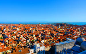 Picture Building Italy From above Venice tilt-shift Cities