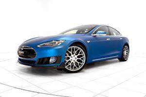 Bilder Tesla Motors Brabus Blau 2015 Brabus Model S auto