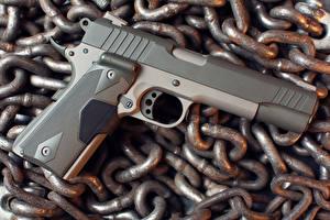 Wallpaper Pistols Closeup Chain Taurus military