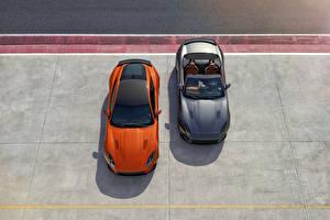 Fotos Jaguar Orange Grau Cabriolet 2 2016 F-Type SVR convertible Autos