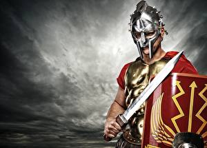 Hintergrundbilder Mittelalter Krieger Schwert Helm Fantasy