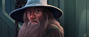 Bakgrunnsbilder Ringenes herre Malte Andlet Blikk Hatt Skjegg Gandalf