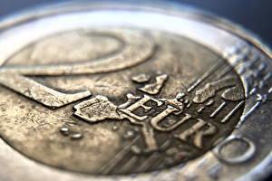 Hintergrundbilder Geld Münze Großansicht Euro Makro 2